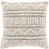 "Surya Faroe Khaki and Black 18"" Square Decorative Pillow"