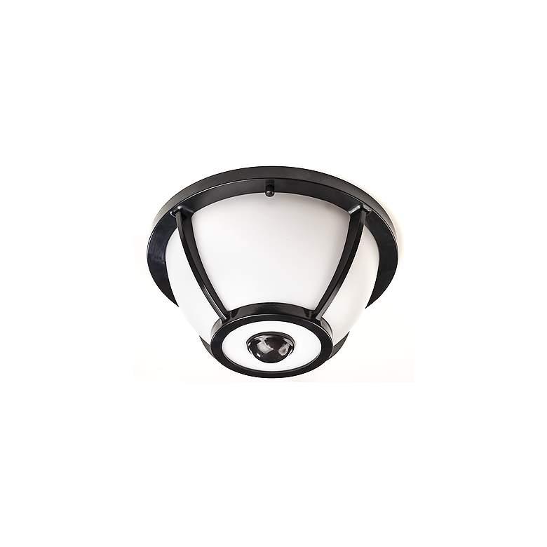 "Camille Collection 5 3/4"" Wide Black Motion Sensor LED Ceiling Light"