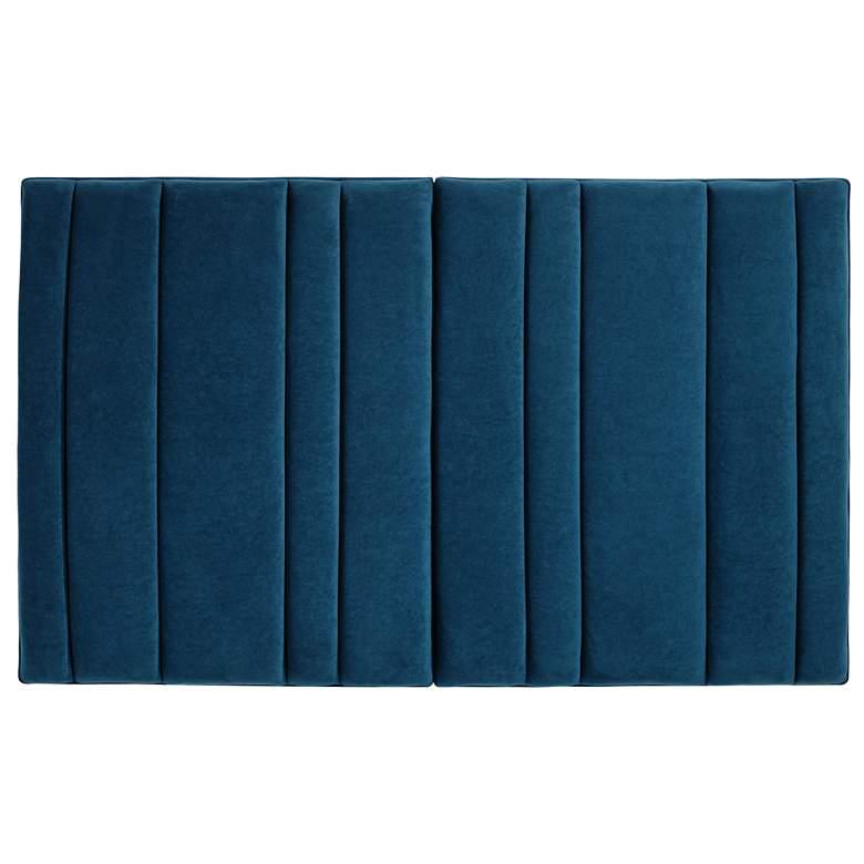 Set of 2 Cadence Tufted Blue Velvet Hanging Headboards