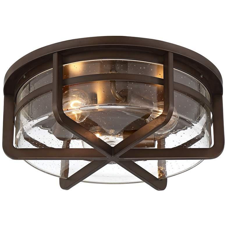 "Possini Euro Stryder 16 1/4"" Wide Rubbed Bronze 3-Light Ceiling Light"