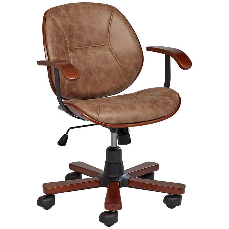 Julian Walnut Veneer Swivel Office Chair