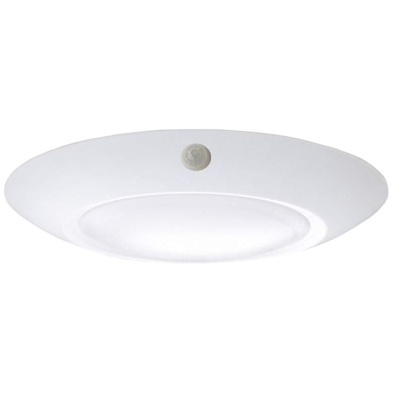 """6"""" White Motion Sensor 15 Watt LED Disk Light"""