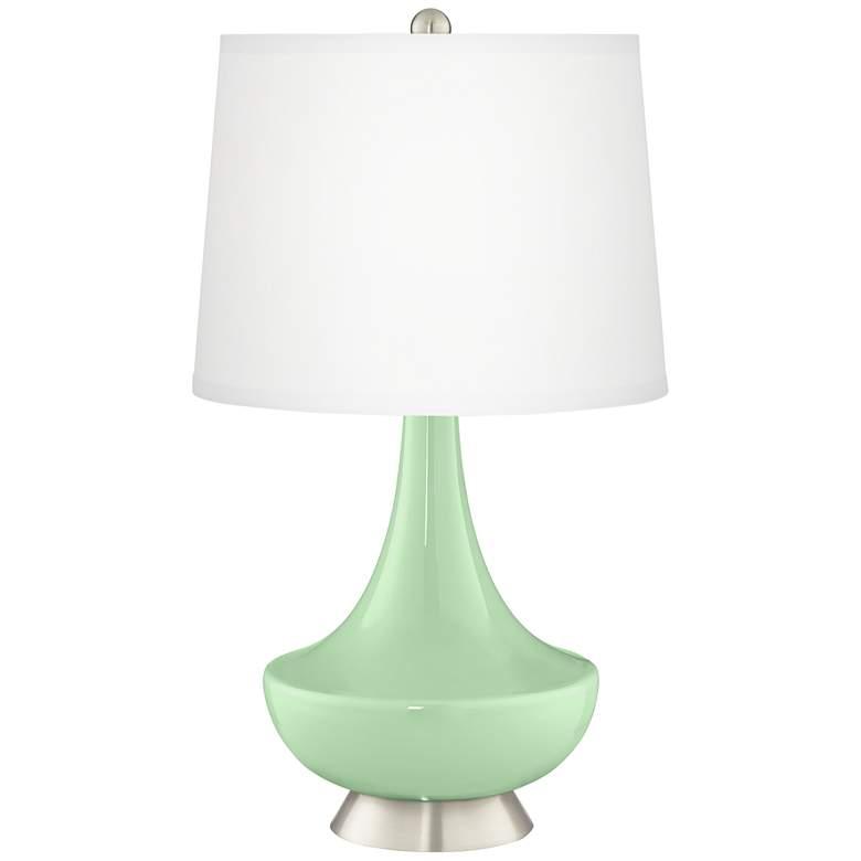 Flower Stem Green Gillan Glass Table Lamp