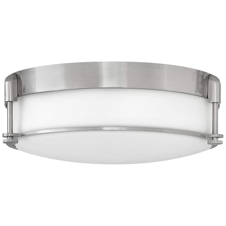 """Hinkley Colbin 16 1/2"""" Wide Brushed Nickel Ceiling Light"""