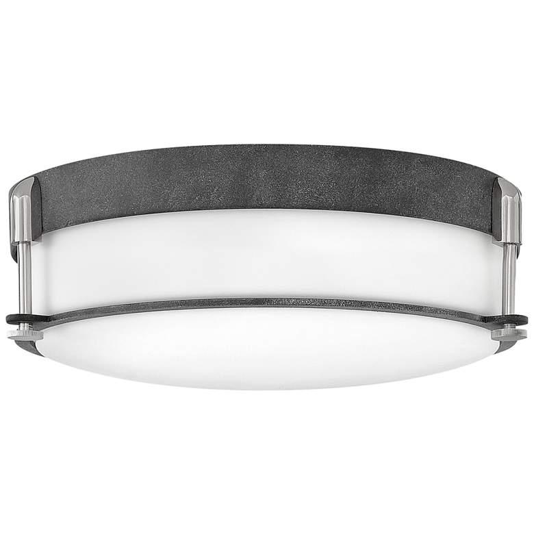 """Hinkley Colbin 16 1/2"""" Wide Aged Zinc Ceiling Light"""