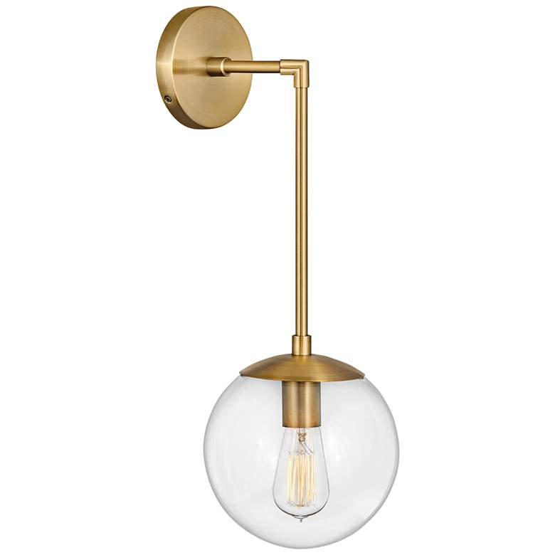 """Hinkley Warby 21 3/4"""" High Heritage Brass Wall Sconce"""