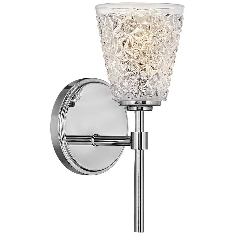"""Hinkley Amabelle 12 1/2"""" High Chrome Wall Sconce"""