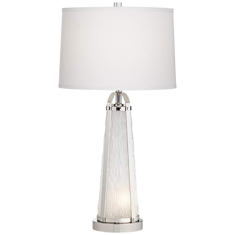 Park View Textured Glass Modern Night Light Table Lamp
