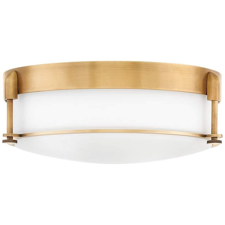 "Hinkley Colbin 16 1/2"" Wide Heritage Brass Ceiling Light"