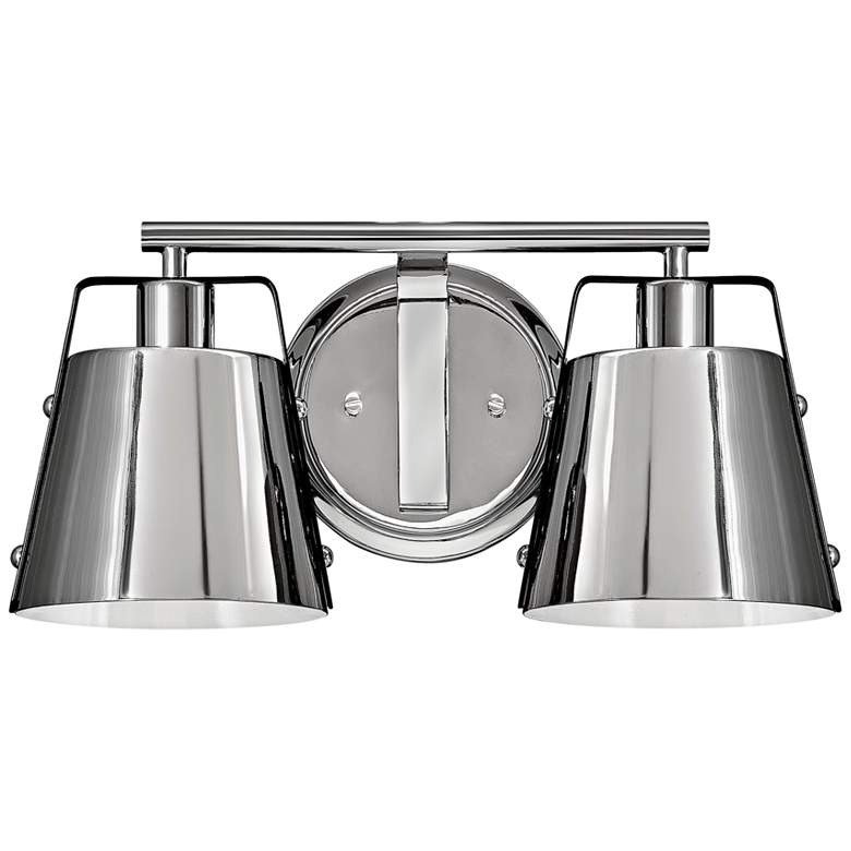 """Cartwright 7 1/2"""" High Polished Nickel 2-Light Wall Sconce"""