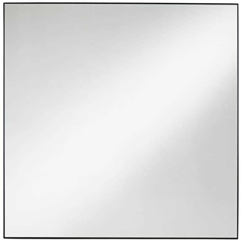 """Aryn Matte Black 30"""" Square Wall Mirror"""