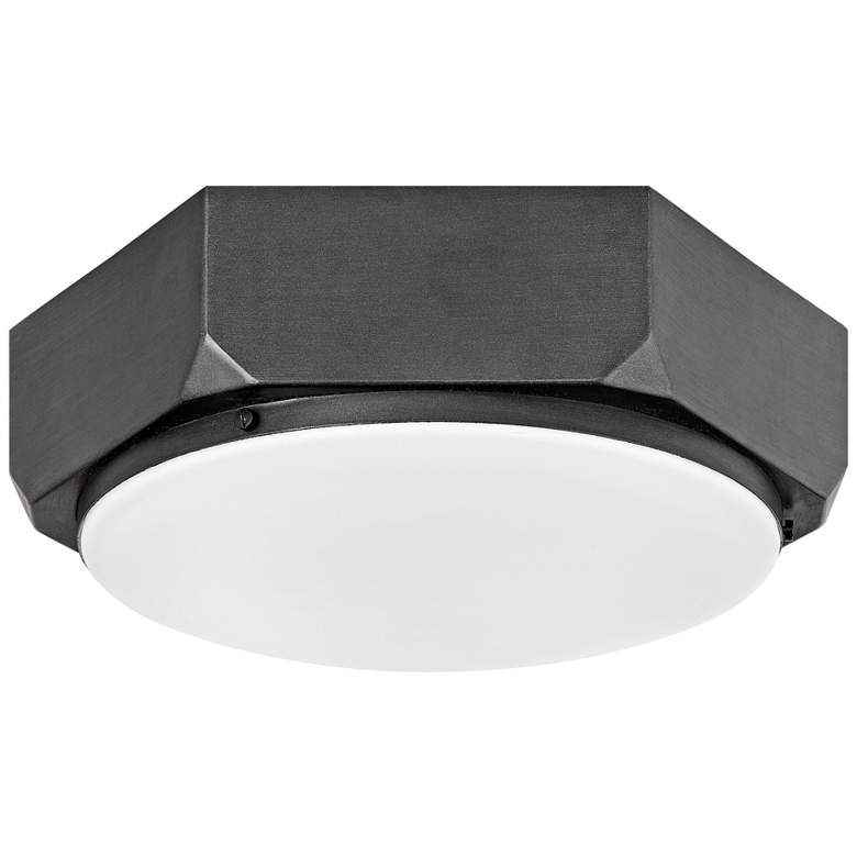 """Hinkley Hex 16"""" Wide Brushed Graphite Ceiling Light"""