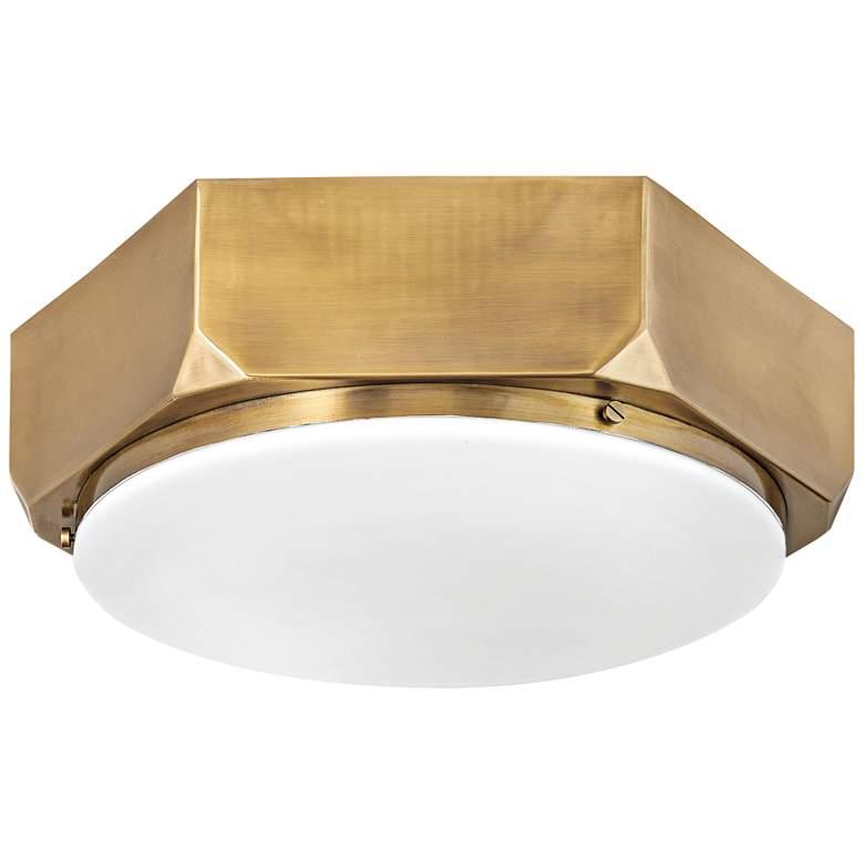 """Hinkley Hex 16"""" Wide Warm Brass Ceiling Light"""