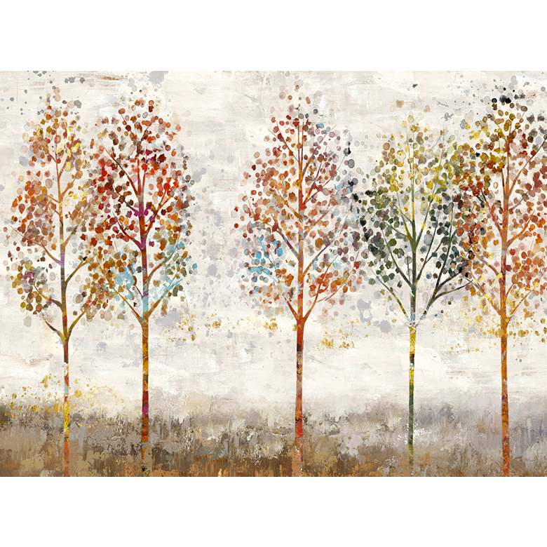 """Young Forest 40"""" Wide All-Weather Outdoor Canvas Wall Art"""