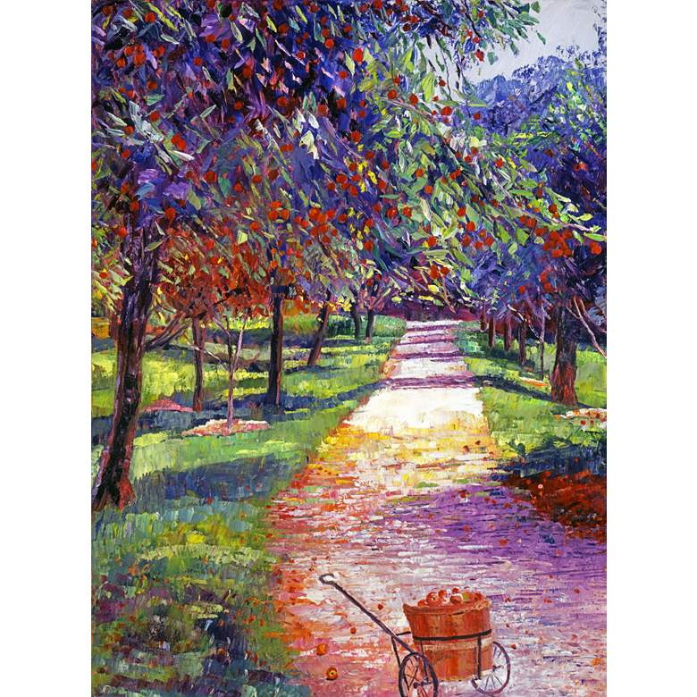 """Apple Orchard 40"""" High All-Weather Outdoor Canvas Wall Art"""