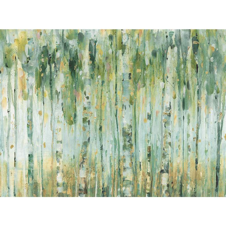 """Forest In Sage 40"""" Wide All-Weather Outdoor Canvas Wall Art"""