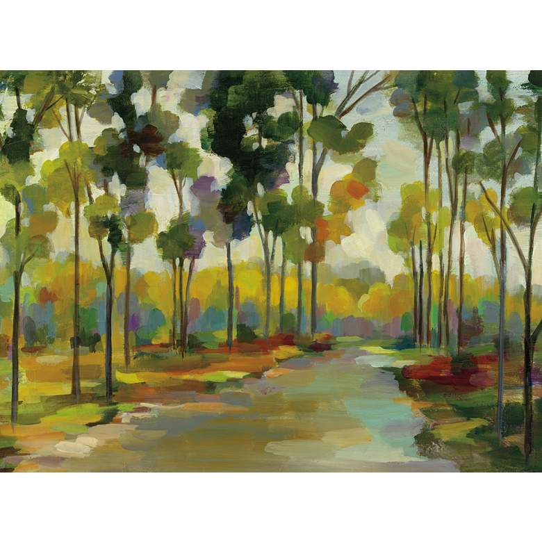 "Distant Forest 40"" Wide All-Weather Outdoor Canvas Wall Art"