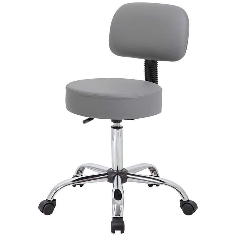 Boss Gray Caressoft Swivel Adjustable Medical/Drafting Stool