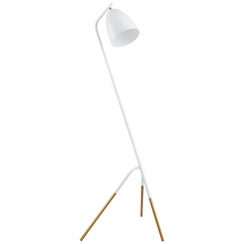 Eglo Westlinton White and Gold Leaf Tripod Floor Lamp