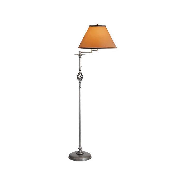 Hubbardton Forge Twist Basket Swing Arm Floor Lamp