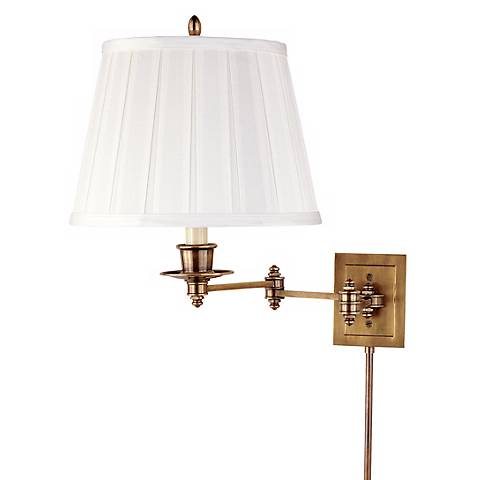 Triple Pivot Plug-In Swing Arm Wall Lamp