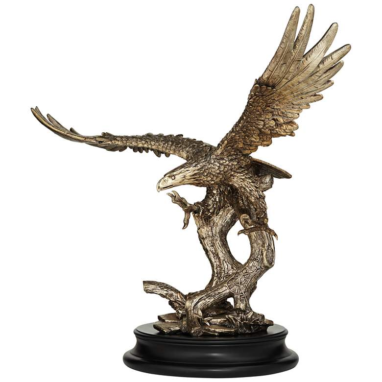 "Eagle Taking Flight 24 1/2"" High Large Bronze Sculpture"