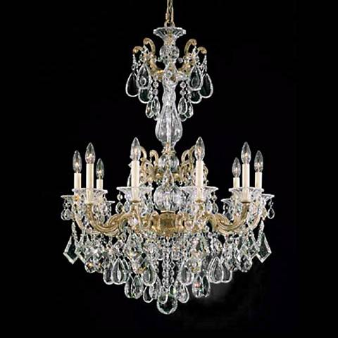 "Schonbek La Scala 25"" Wide Hand-Cut Crystal Chandelier"