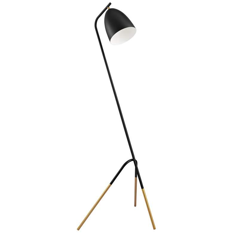 Eglo Westlinton Black and Gold Metal Tripod Floor Lamp