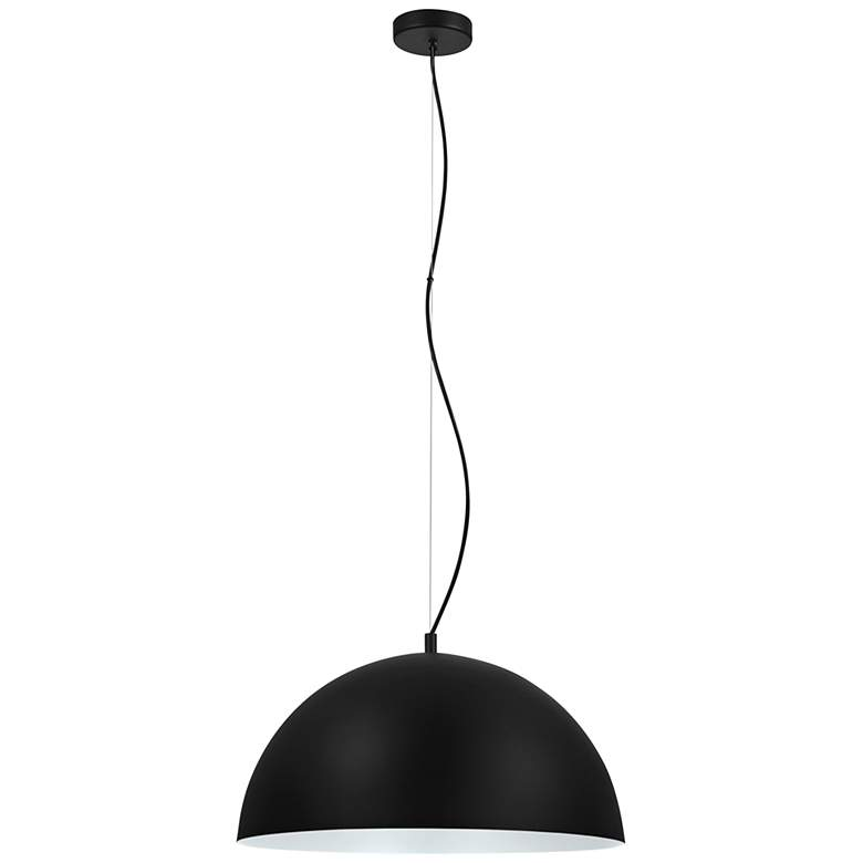 "Eglo Rafaelino 21"" Wide Black and White Pendant Light"