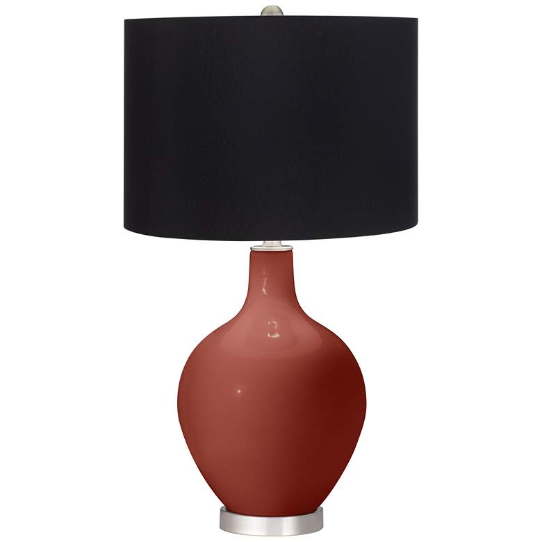 Madeira Ovo Table Lamp by Color Plus with Black Shade