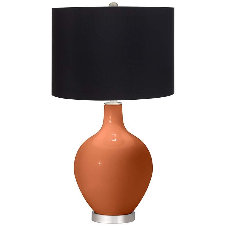 Robust Orange Ovo Table Lamp with Black Shade