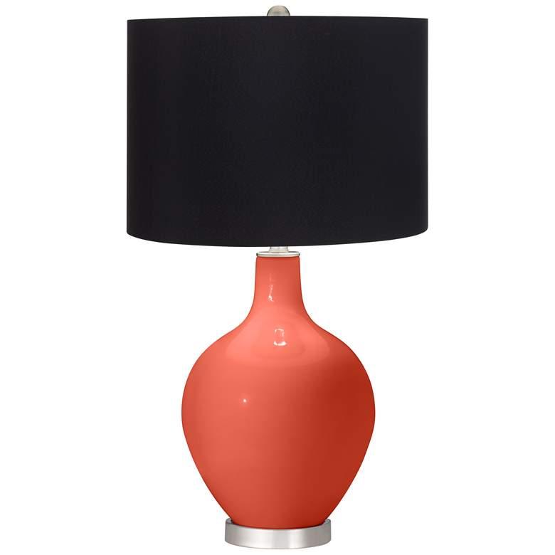 Koi Orange Ovo Table Lamp with Black Shade