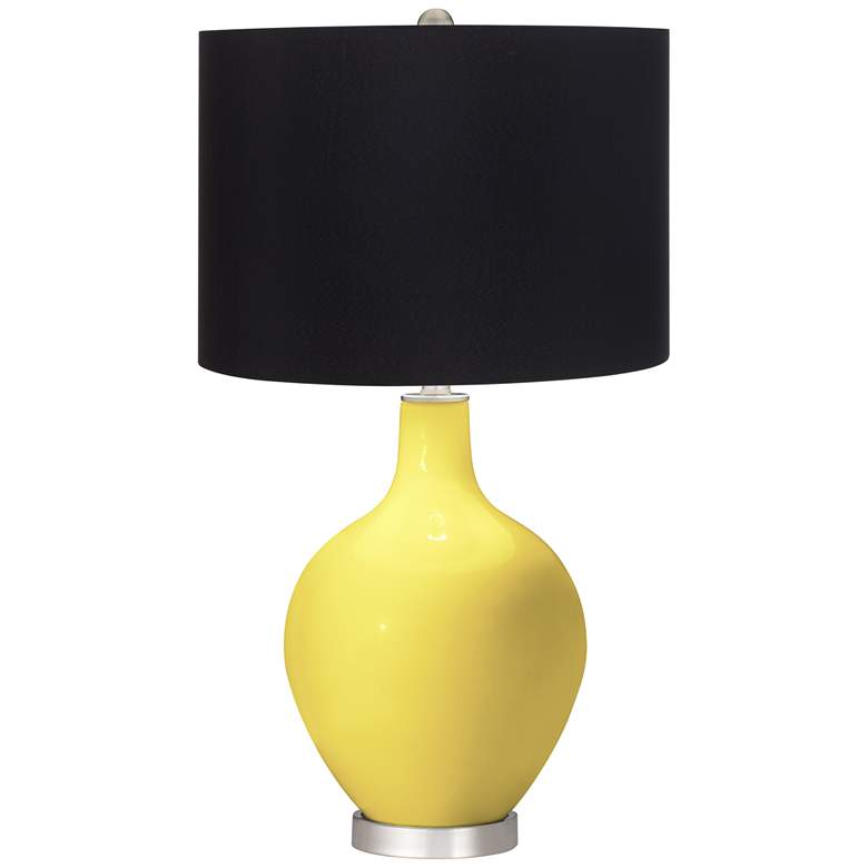 Lemon Twist Ovo Table Lamp with Black Shade