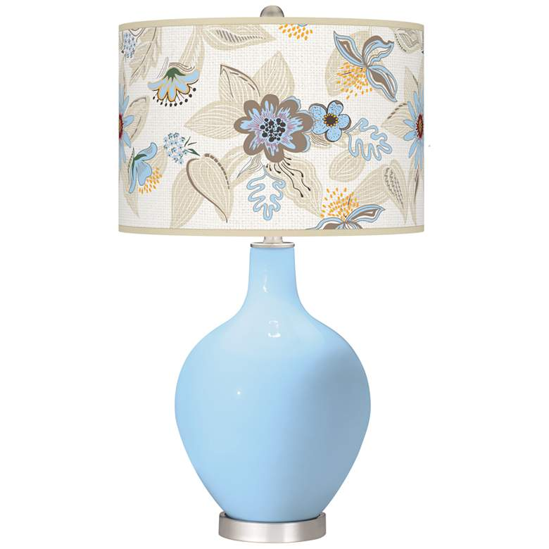 Wild Blue Yonder Mid-Summer Ovo Table Lamp