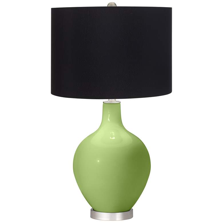 Lime Rickey Ovo Table Lamp with Black Shade
