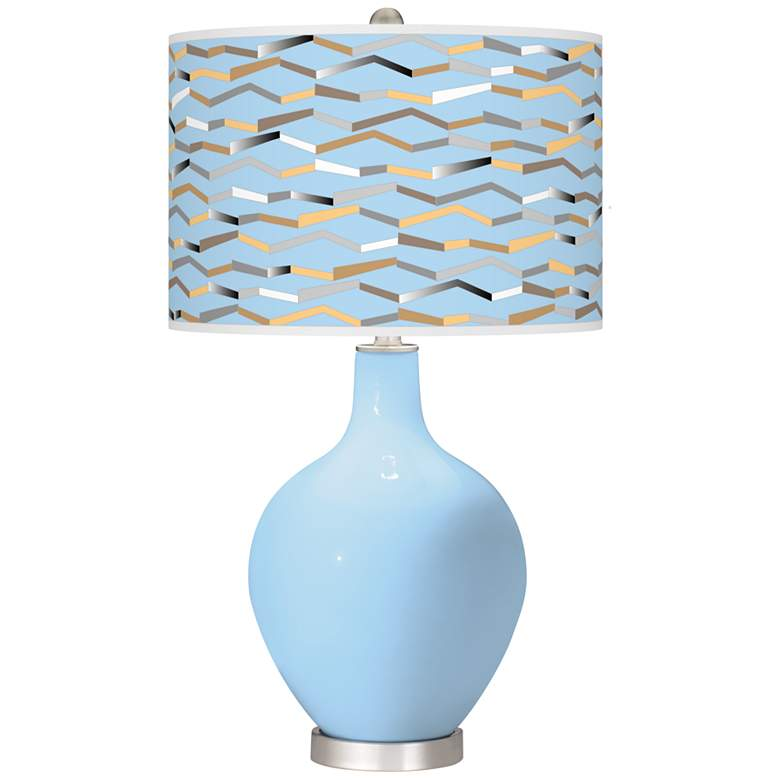 Wild Blue Yonder Shift Ovo Table Lamp