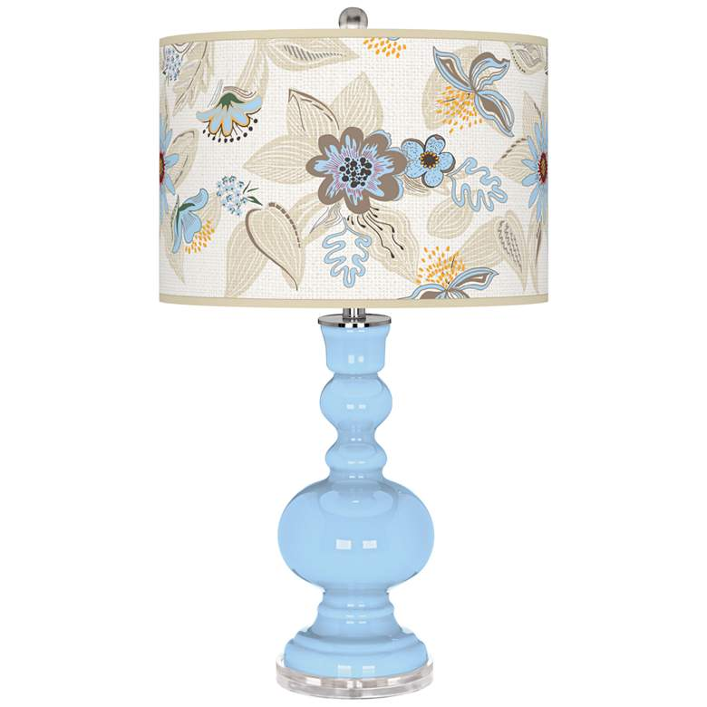 Wild Blue Yonder Mid-Summer Apothecary Table Lamp