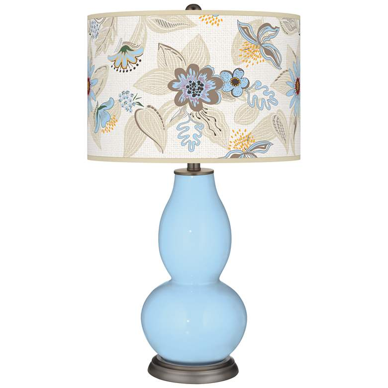 Wild Blue Yonder Mid-Summer Double Gourd Table Lamp