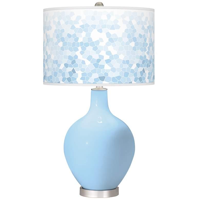 Wild Blue Yonder Mosaic Ovo Table Lamp