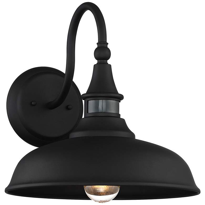 "Gough 12 1/2"" High Black Motion Sensor Outdoor Wall Light"