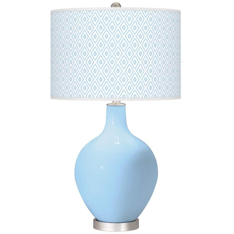 Wild Blue Yonder Diamonds Ovo Table Lamp