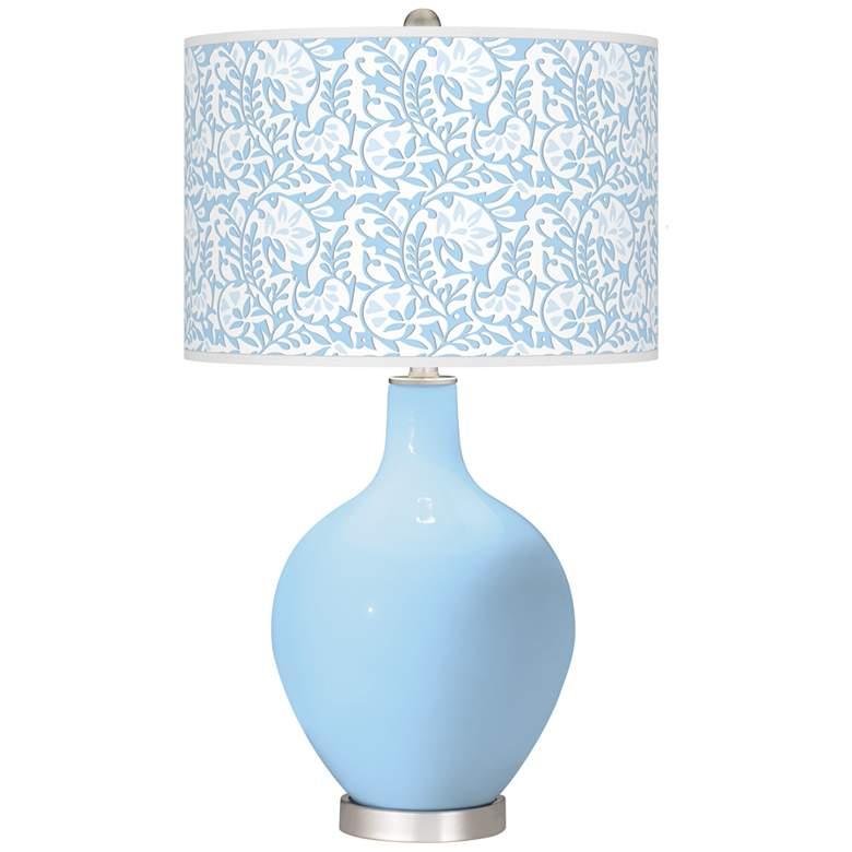Wild Blue Yonder Gardenia Ovo Table Lamp