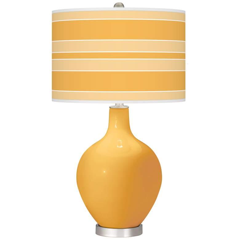 Marigold Bold Stripe Ovo Table Lamp