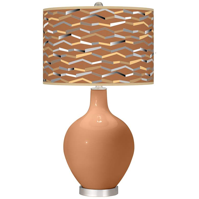 Burnt Almond Shift Ovo Table Lamp
