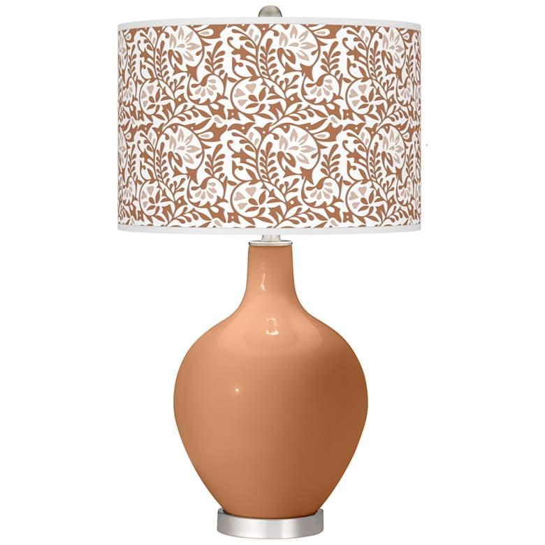 Burnt Almond Gardenia Ovo Table Lamp