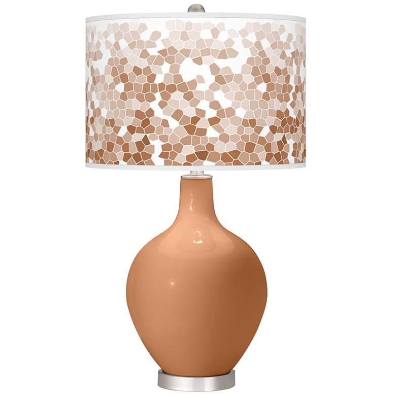 Burnt Almond Mosaic Ovo Table Lamp