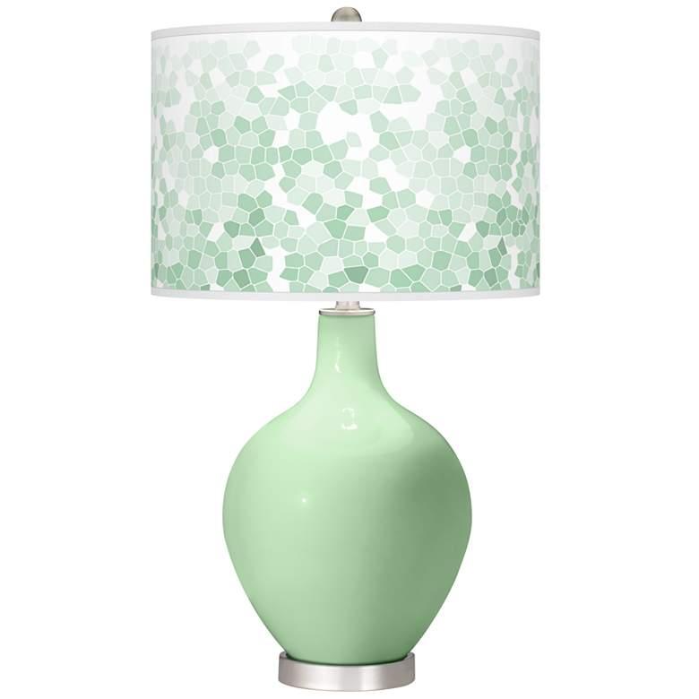 Flower Stem Mosaic Ovo Table Lamp