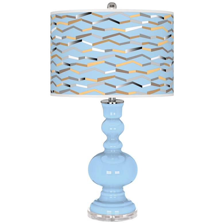 Wild Blue Yonder Shift Apothecary Table Lamp