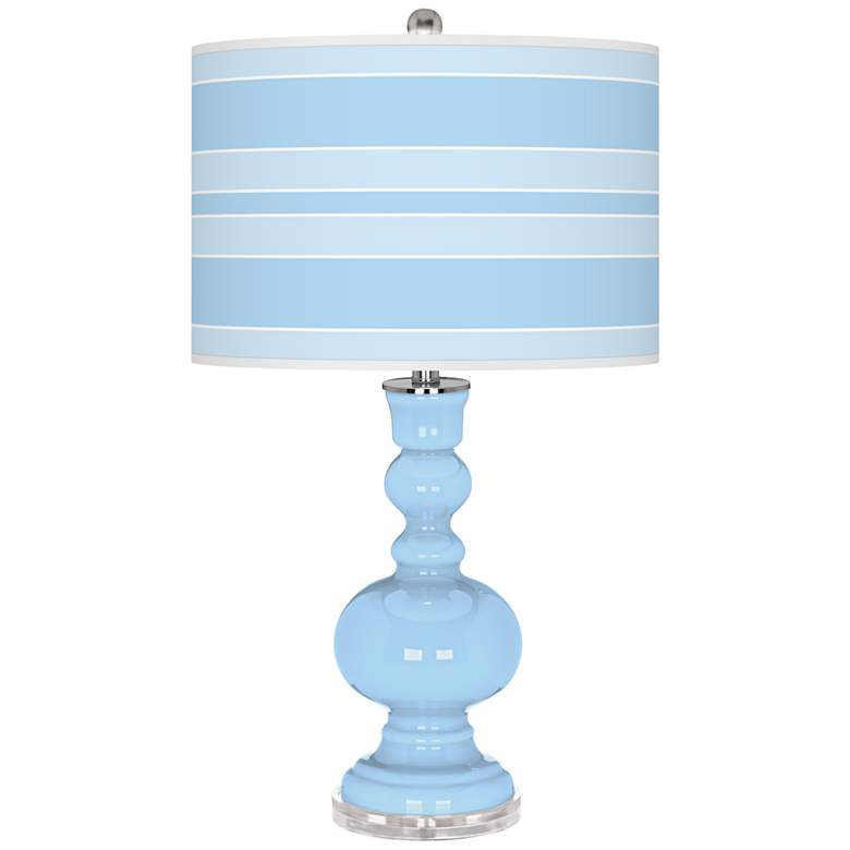 Wild Blue Yonder Bold Stripe Apothecary Table Lamp