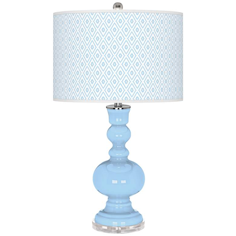 Wild Blue Yonder Diamonds Apothecary Table Lamp